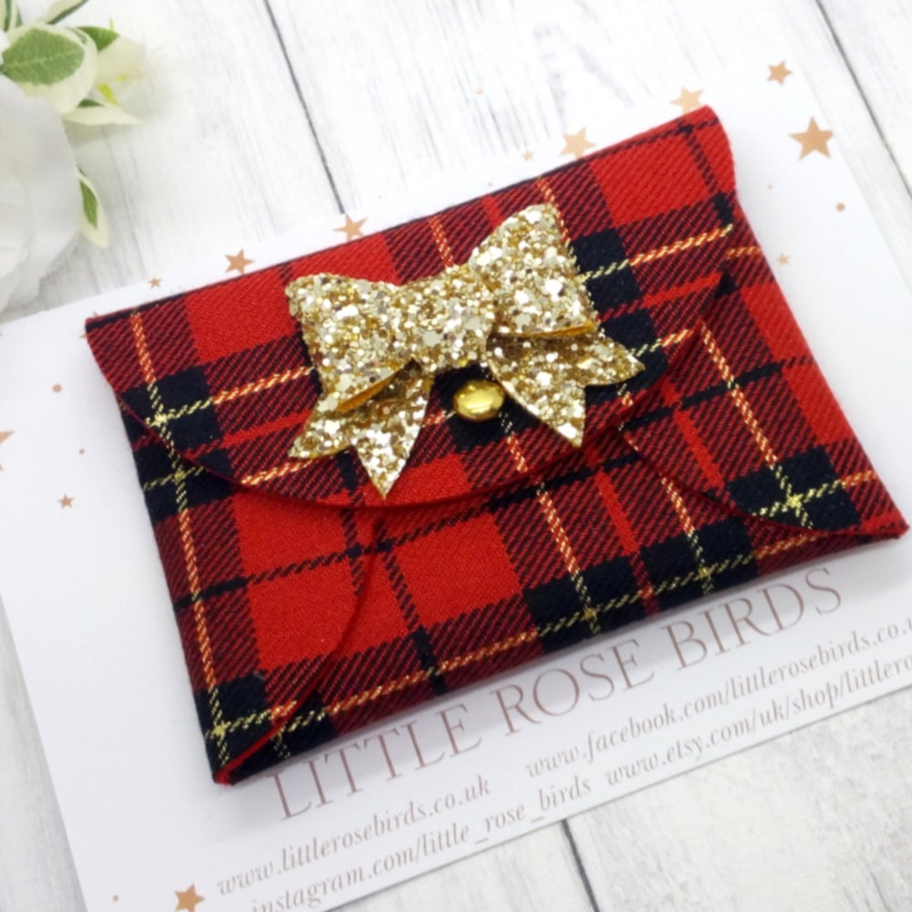 Image of Red Tartan Coin Purse
