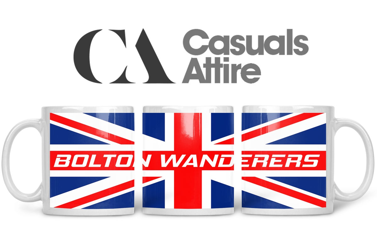 Bolton Football Fans, Casuals, Ultras, Fully Wrapped Mug.