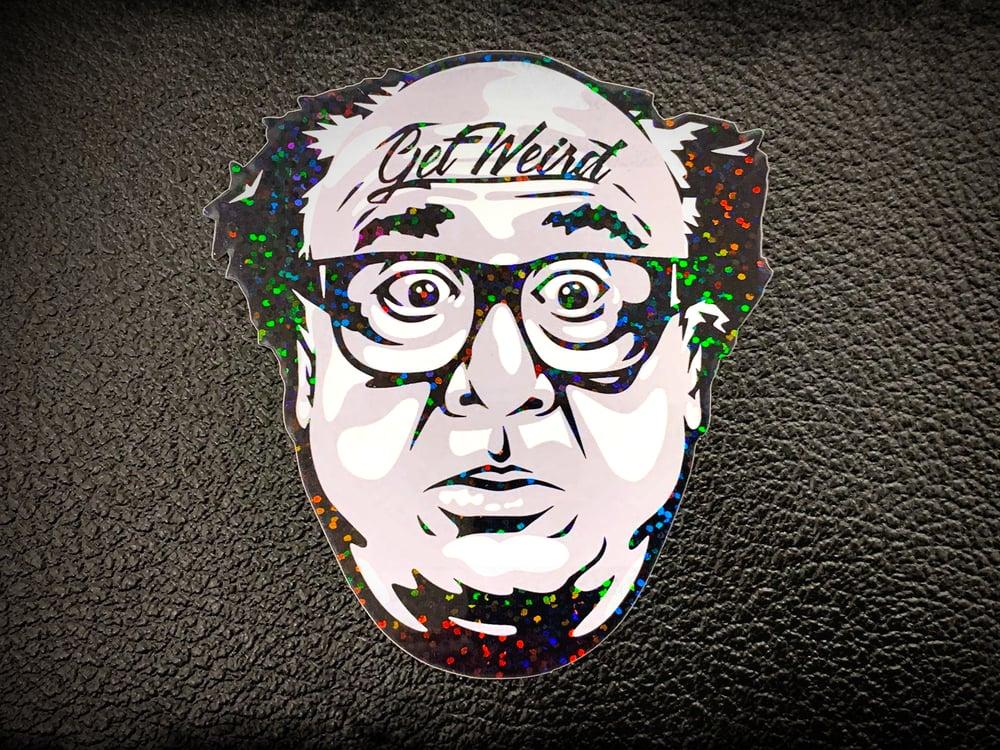 """Image of Workshop 432 """"Get Weird"""" Glitter Sticker"""