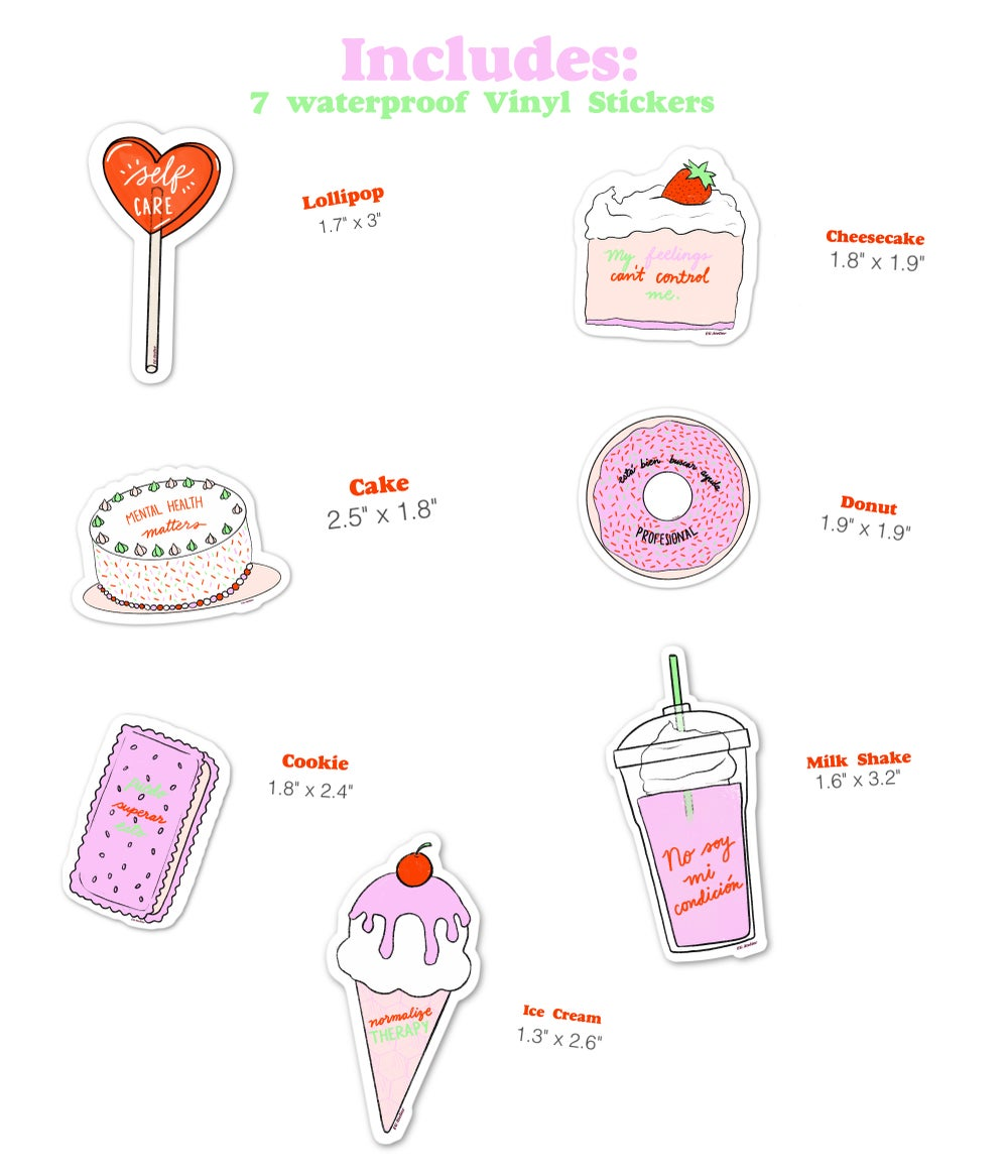 Image of Mental Well-being Desserts Sticker Pack