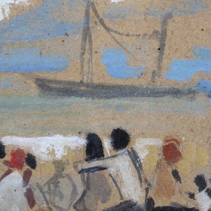 Image of French Painting, 'Friends on the Shore,' Alexandre Sascha GARBELL (1903-1970)