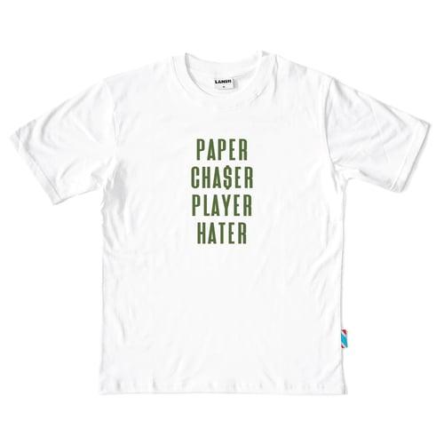 """Image of LANSI """"Paper Chaser"""" T-shirt"""