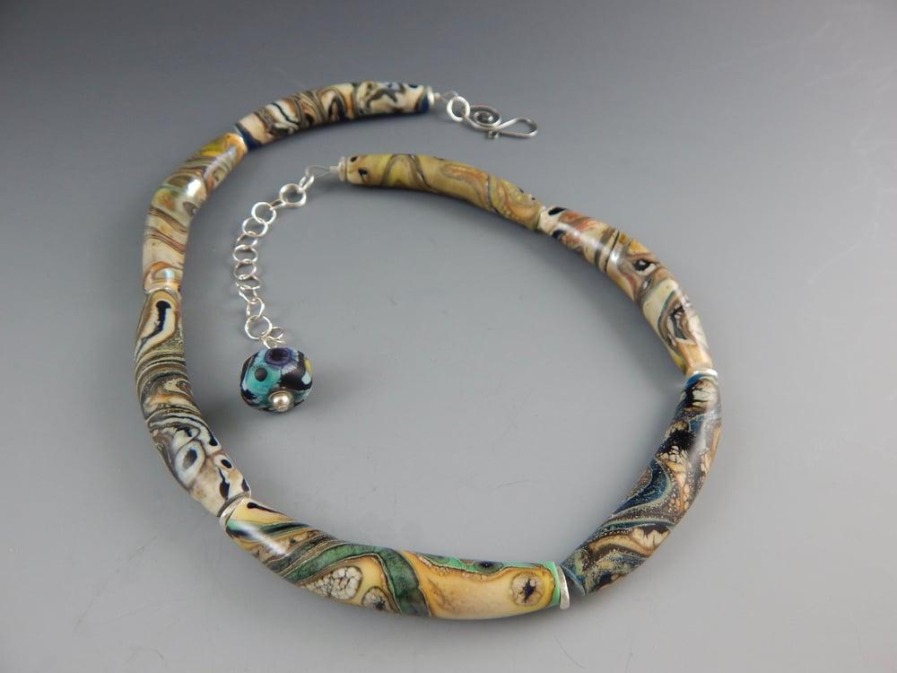 Image of Artisan Glass • Curved Organic Swirl Beads