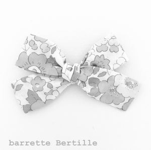 Image of Barrette voile de coton plumetis blanc