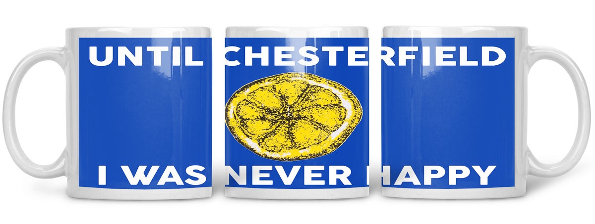 Chesterfield, Football, Casuals, Ultras, Fully Wrapped Mug. Unofficial.
