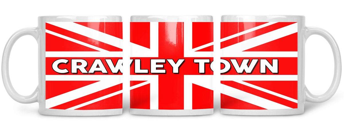 Crawley Town, Football, Casuals, Ultras, Fully Wrapped Mug. Unofficial.