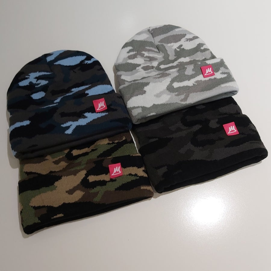 Image of Camo Beanies (Pink Labels)