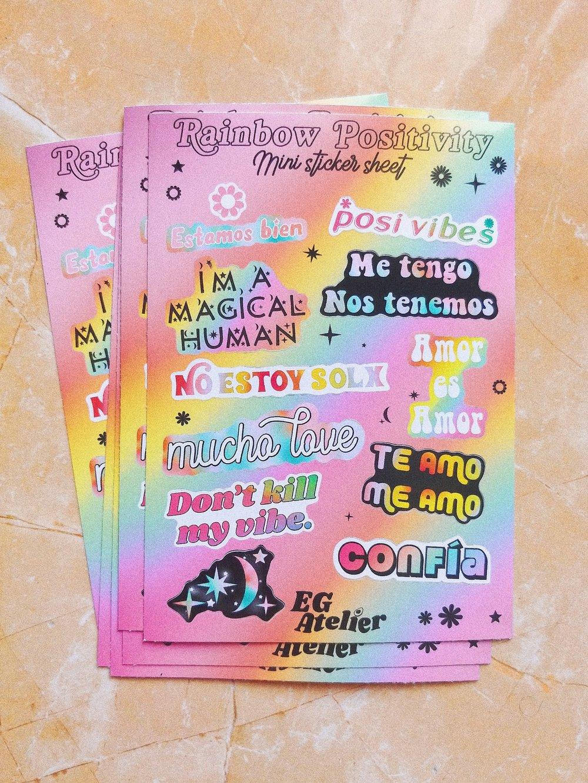 Image of Rainbow Positivity Mini Sticker Sheet