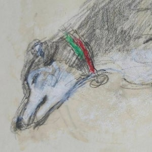 Image of Drawing of a Sleeping Dog,  (2) Audrey Lanceman