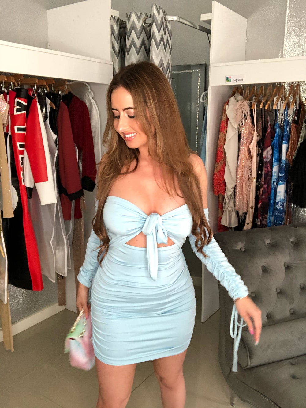Image of Powder Blue Multiway Dress