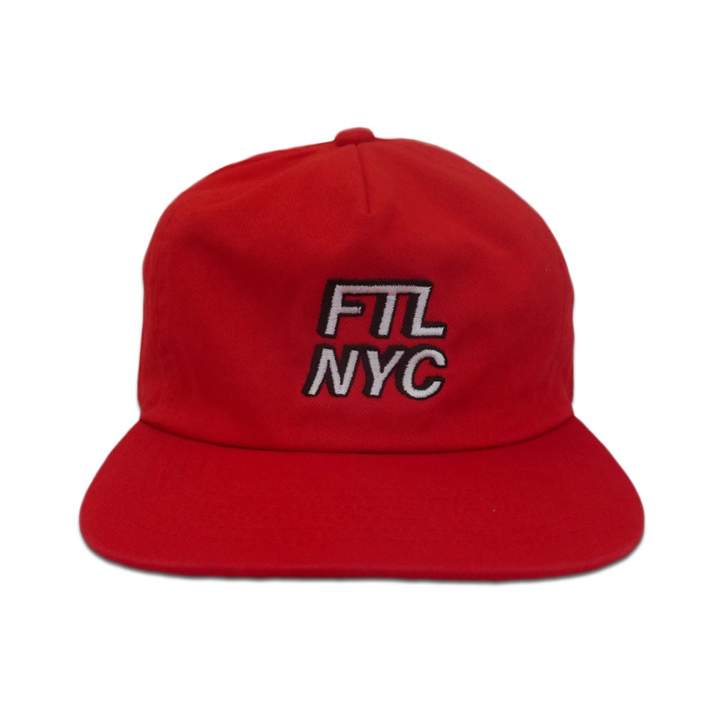 Image of FTL NYC 3D Hat (Red)