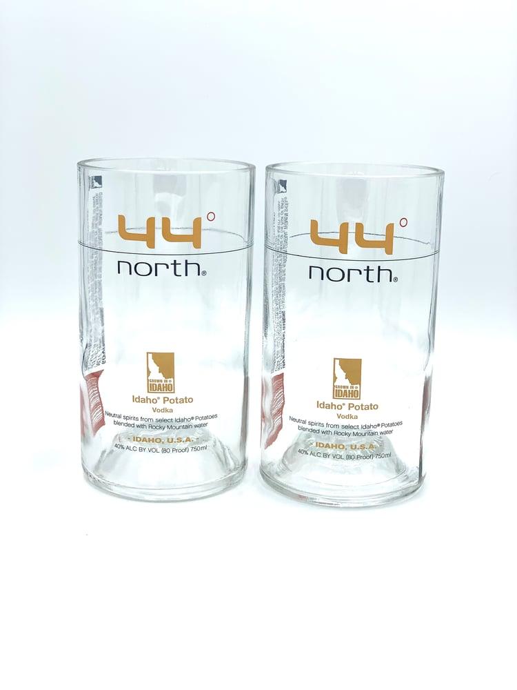 Image of 44° North Potato Vodka Bottle Glasses
