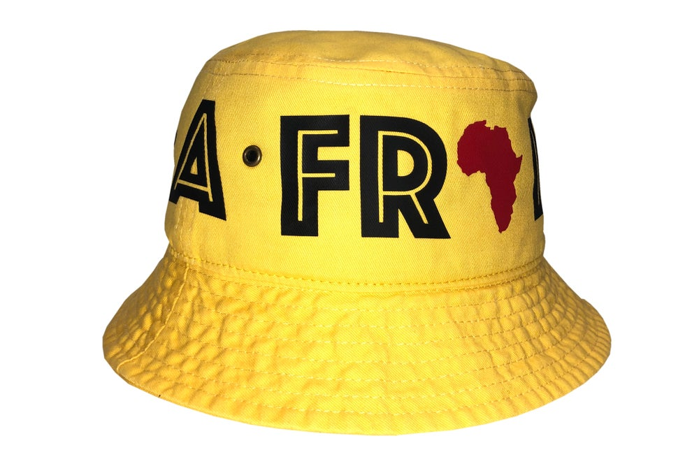 "Image of World Tour ""Africa"" Bucket Hat Yellow"
