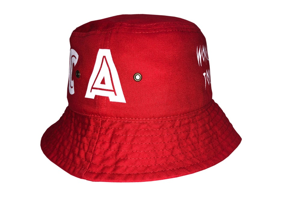 "Image of World Tour ""Africa"" Bucket Hat  Red"