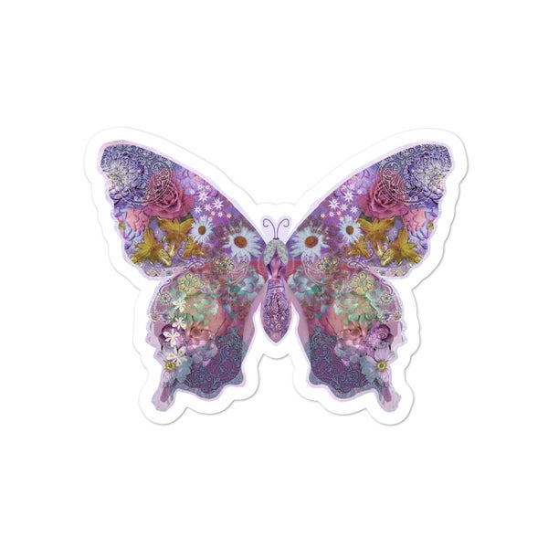 Image of Floral Butterfly Dream Bubble-free stickers