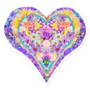 Image 2 of Heart Love Flowers Sticker