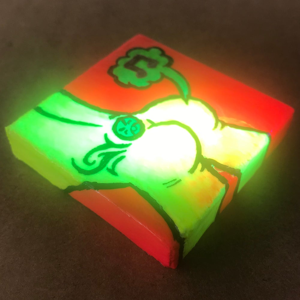 Image of Tiny Painting of a Neon Butt