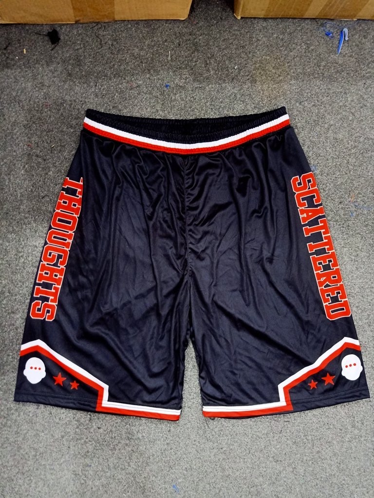"Scattered Basketball Shorts ""Black"""