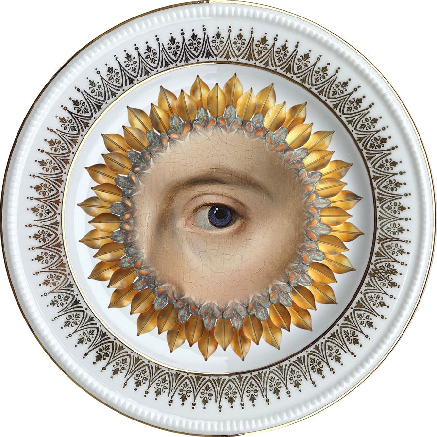 Image of Lover's Eye - Blue - Burst - Vintage Fine Bone China - #0717