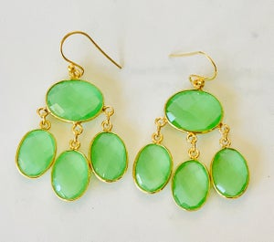 Image of 4 stone drop earring