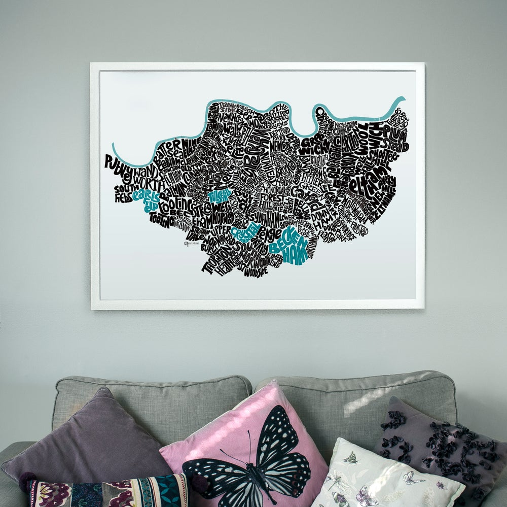 Image of South London Type Map - A sizes