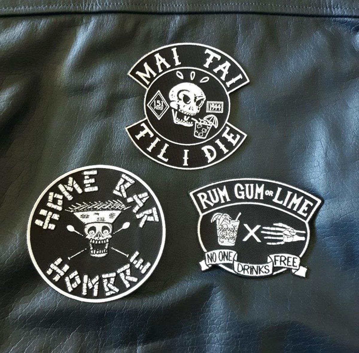 "Tiki Biker/Hot Rod 5"" Embroidered Patch Bundle"