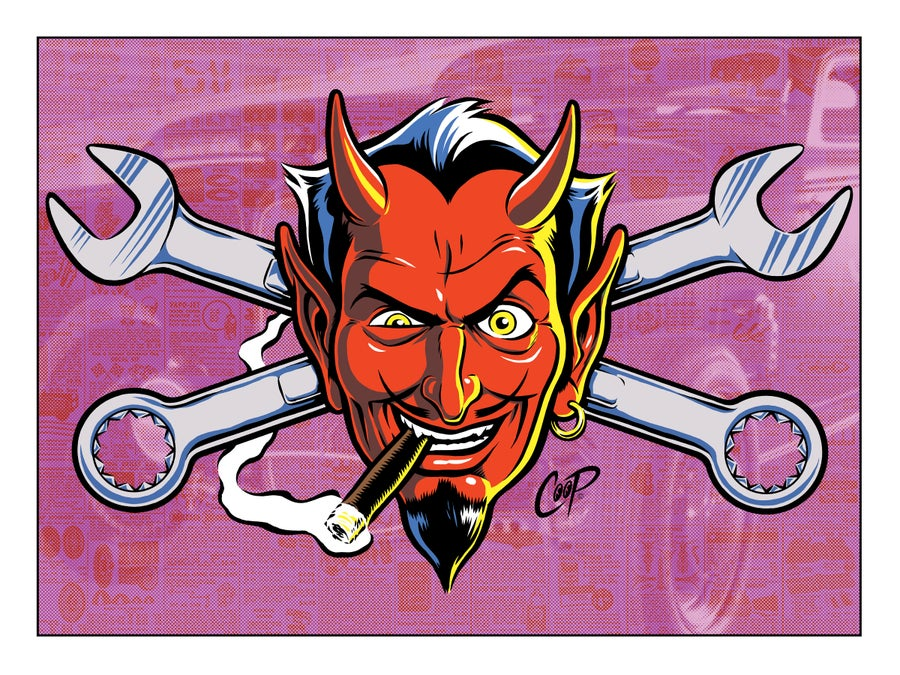 Image of WRENCH DEVIL Silkscreen Print