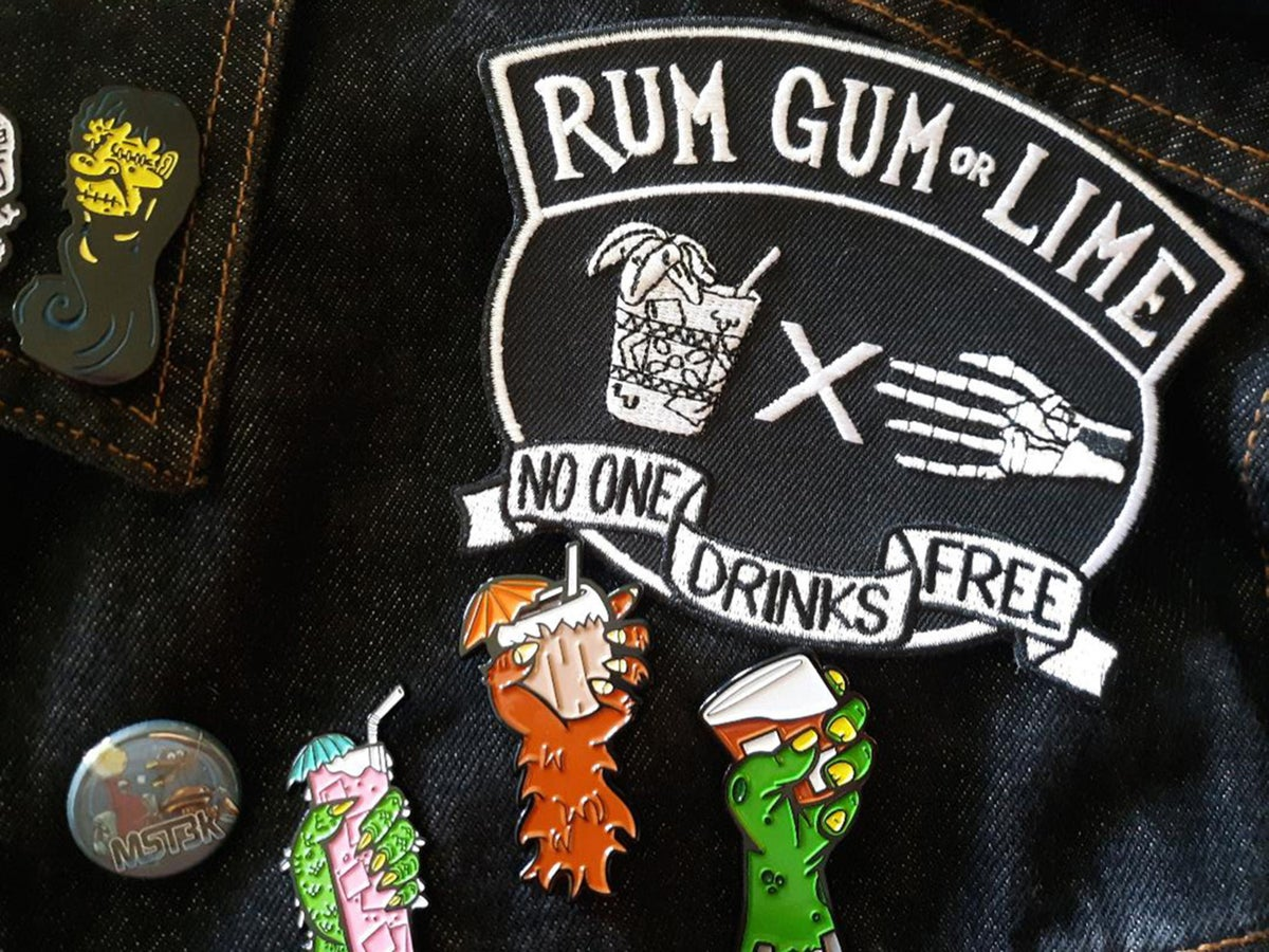 "Tiki Biker/Hot Rod 5"" Embroidered Patch Bundle"
