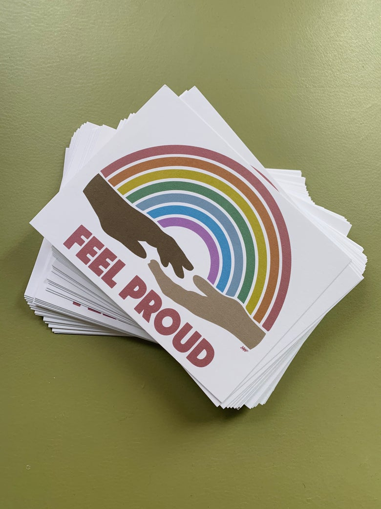 Image of FEEL PROUD POSTCARD PACKS