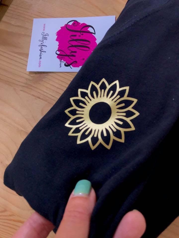 Sofia sunflower tee - adult