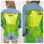 Image of Vinyl neon jacket