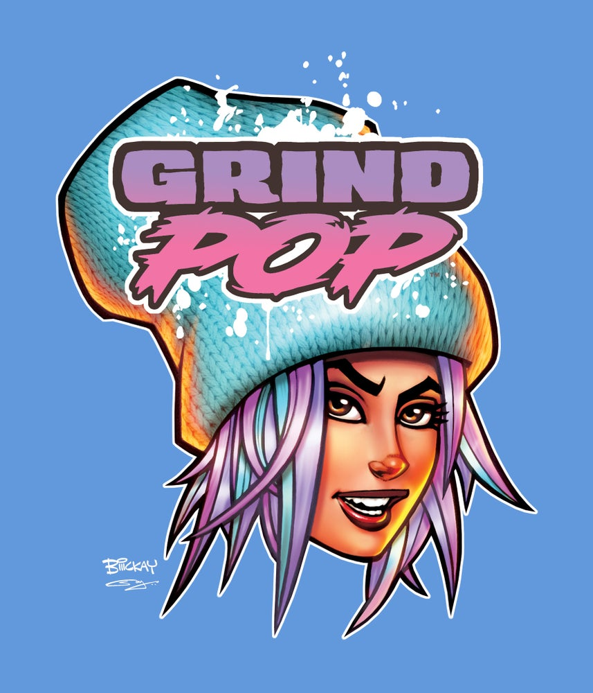 Image of Grind POP Kim T-Shirt Carolina Blue