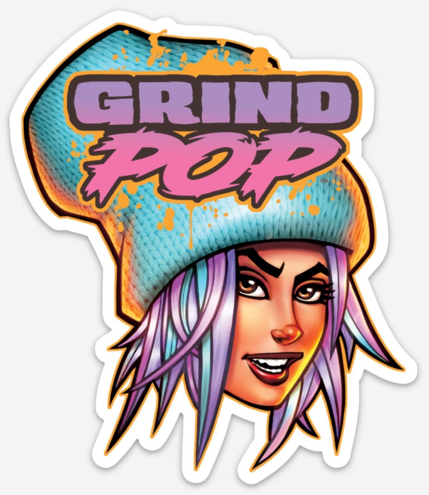 Image of Grind POP Kim Die Cut Sticker