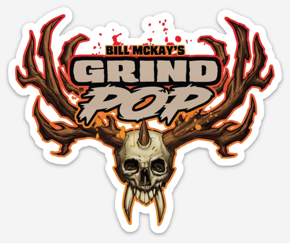 Image of Grind POP Skull Die Cut Sticker