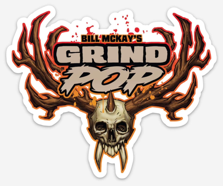 Image of Grind POP Skull Die Cut Sticker