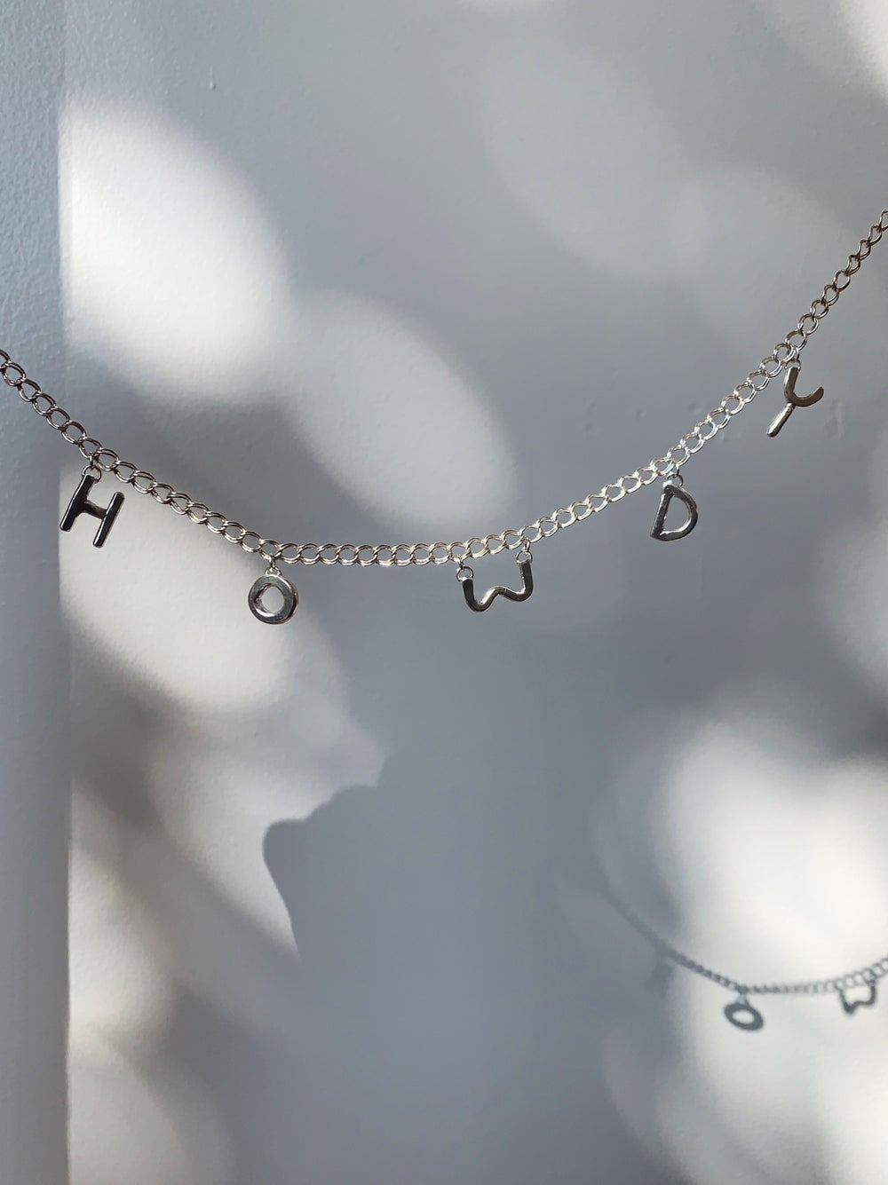 Image of Charm Letter Necklace ✿