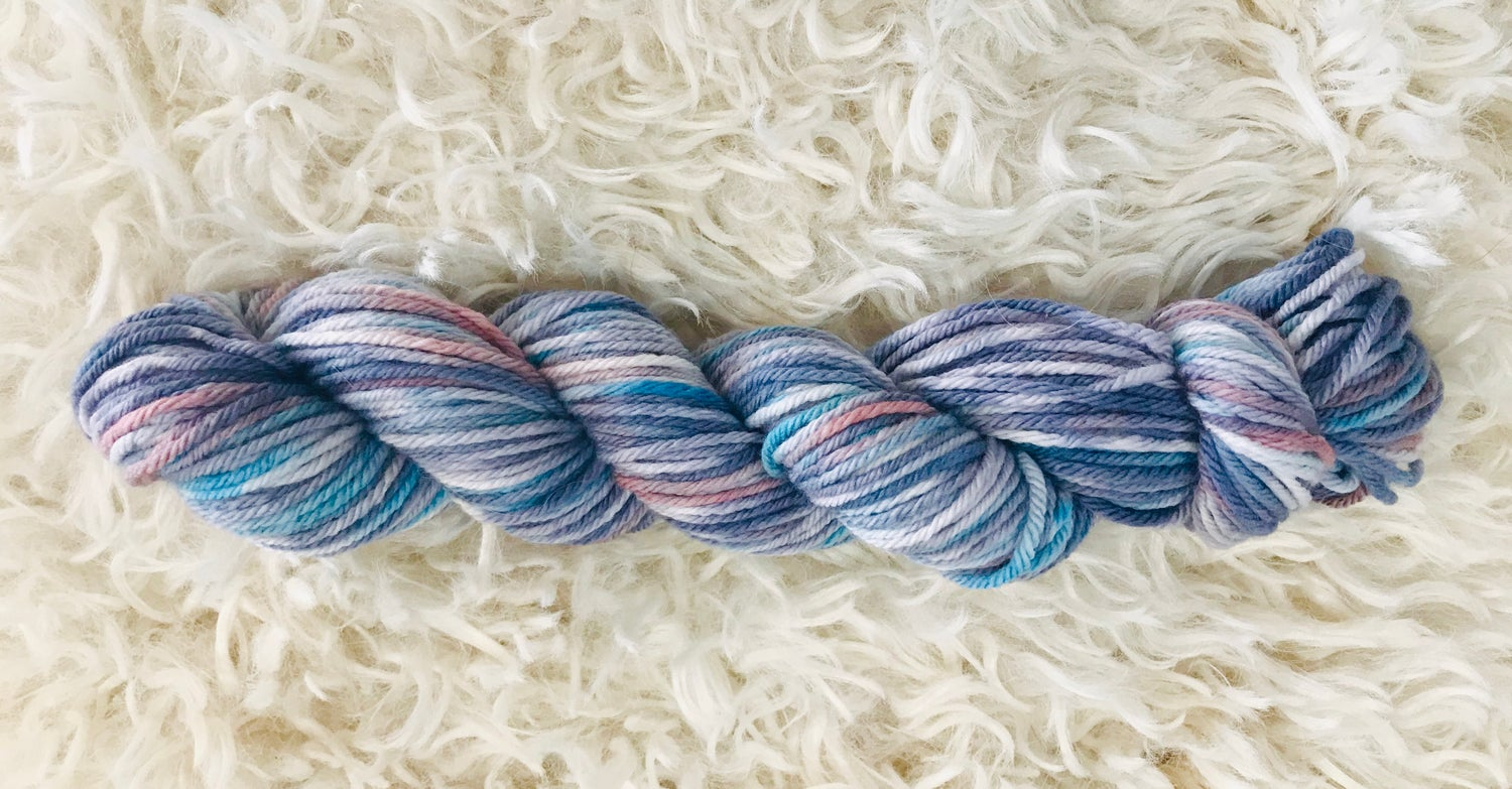 Image of No Grey Days Hand Dyed 8ply Wool