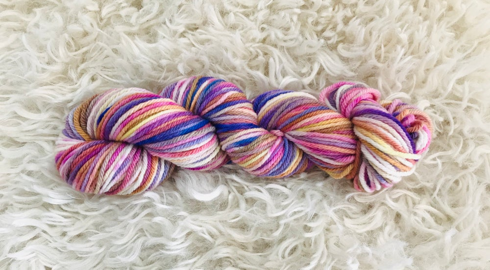 Image of Pastel Unicorn Hand Dyed 8 ply Wool