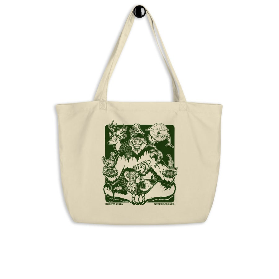 Image of Nature Corner large organic tote bag