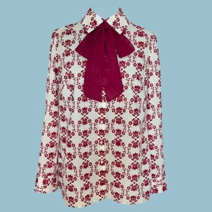 Image of Flowers on the Wall Bow Blouse