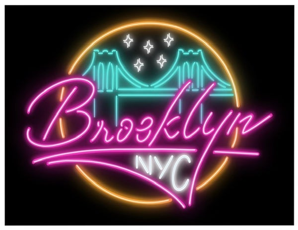 "Image of ""Brooklyn Neon"" 8.5x11 inch print"