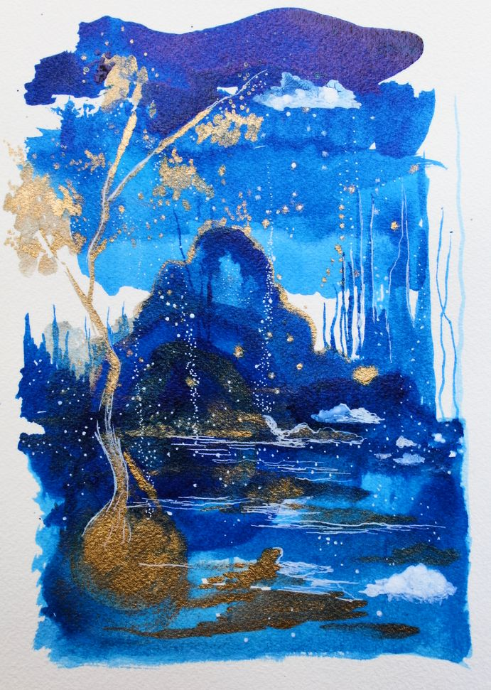Image of Nocturne in Gold & Blue