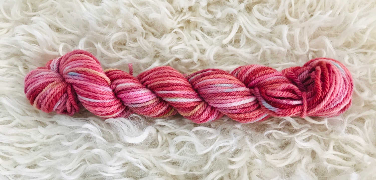 Image of Pink Lollipop Hand Dyed 8 ply Wool