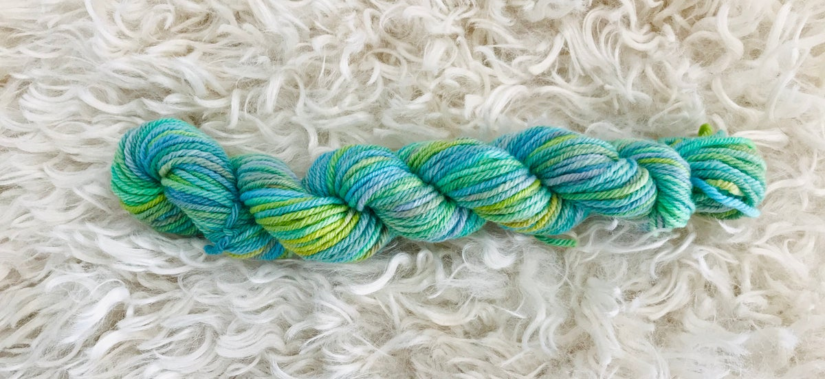 Green Lagoon 8 ply Hand Dyed Wool