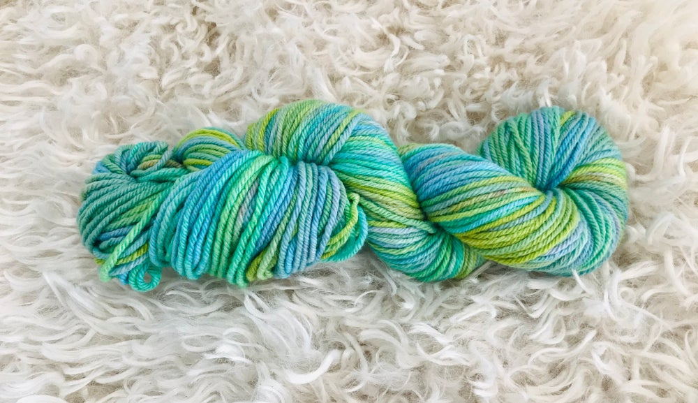 Image of Green Lagoon 8 ply Hand Dyed Wool