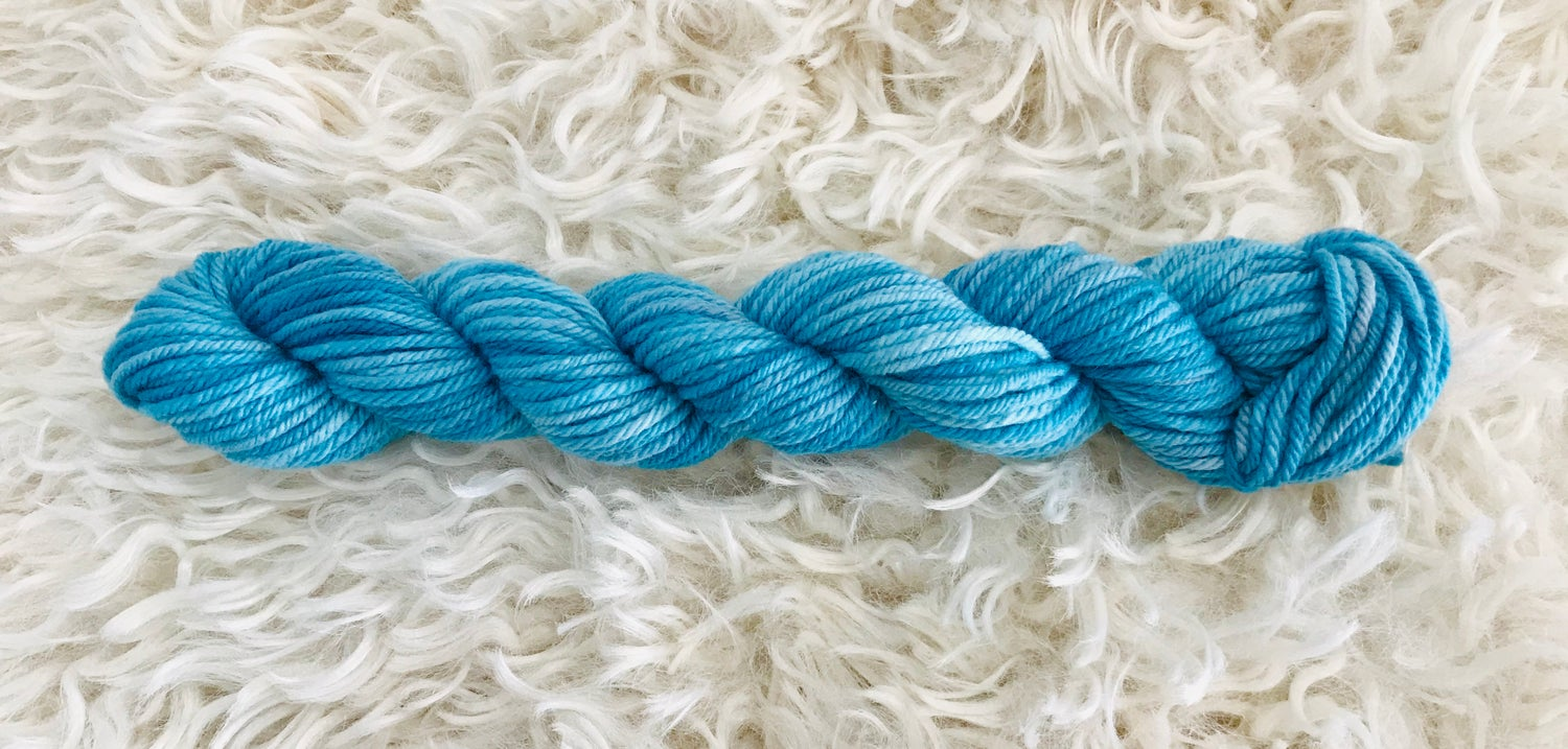 Image of Blue Lagoon 8ply Hand Dyed Wool