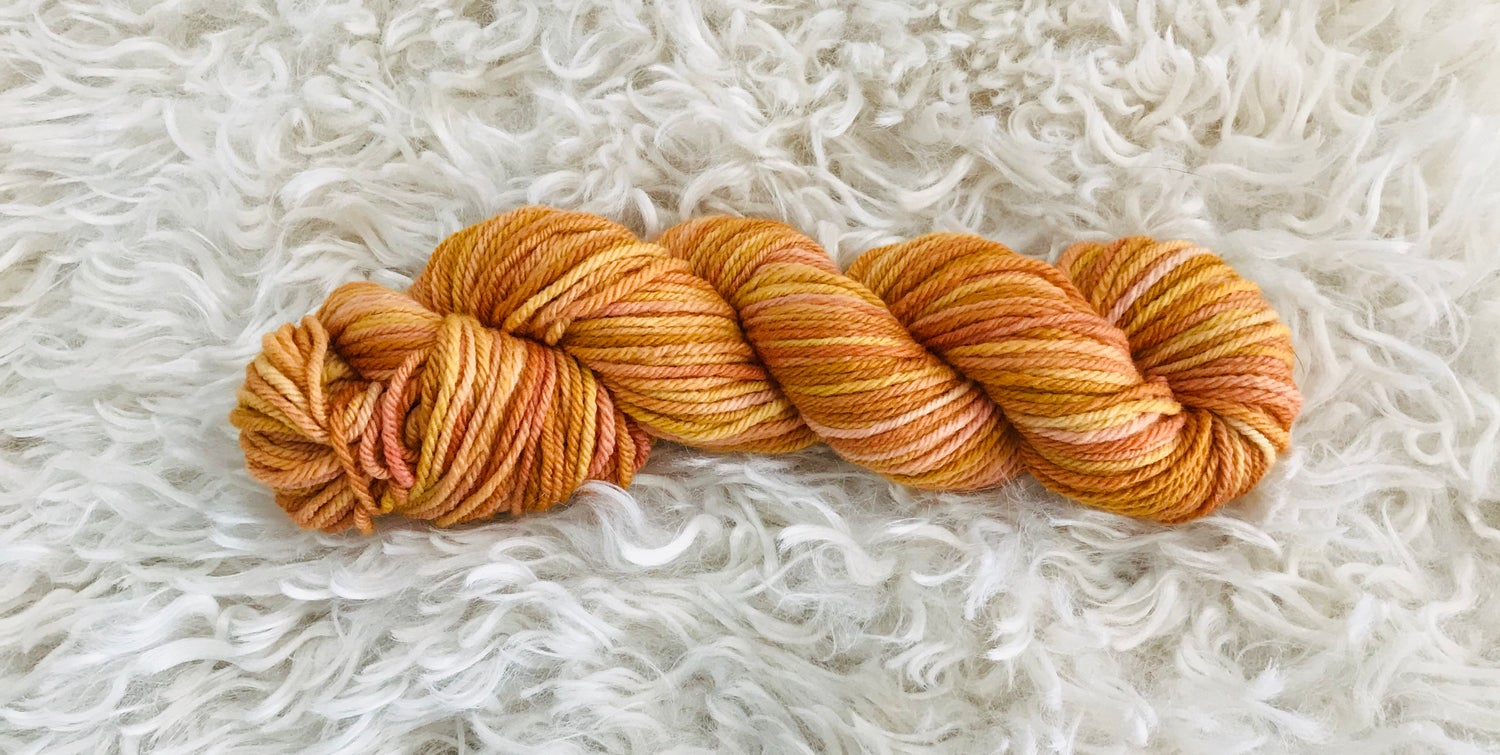Image of Sunset Days 8 ply Hand Dyed Wool