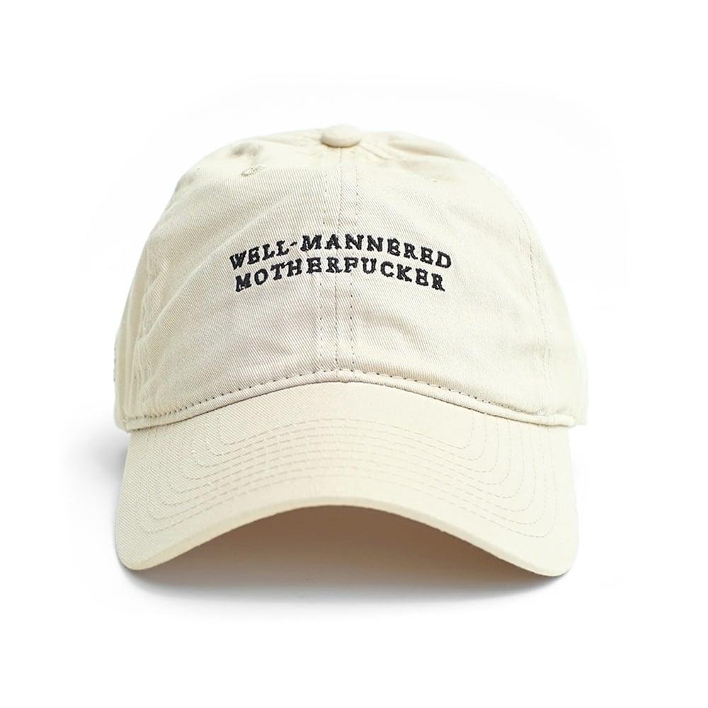 """Image of LANSI """"Manners"""" Baseball Cap (Sand)"""