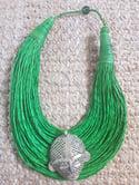 Leather Stranded Mask Choker Necklace