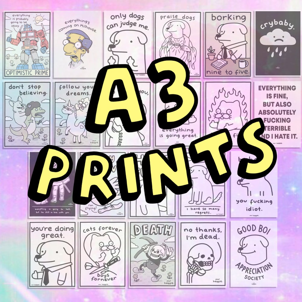Image of The A3 prints.